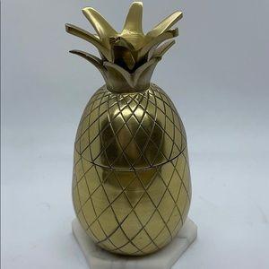 W&P Brass Pineapple Tumbler | Gold, 16 Oz